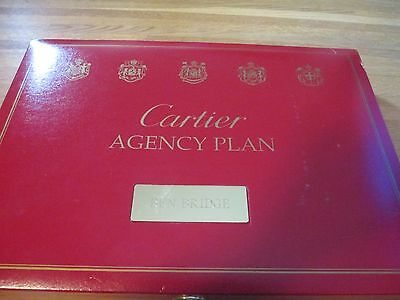 Rare Cartier Jewelry  Box Huge Ben Bridge Agency Plan Display Box Obscure Case