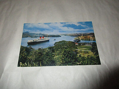 Postcard Ships Passing Through the Panama Canal