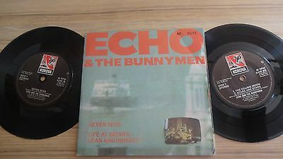 "Echo and the Bunnymen - Seven Seas 7"" Vinyl Double (2x) Single G/FOLD"