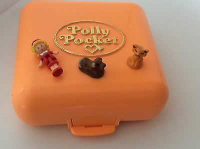 Vintage Polly Pocket POLLY'S TOWN HOUSE 100% Complete 1989