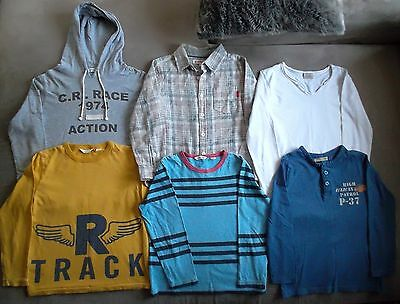 Boys Size 6 Long Sleeve Tops, Country Road, Zara, Gumboots x 6 items.
