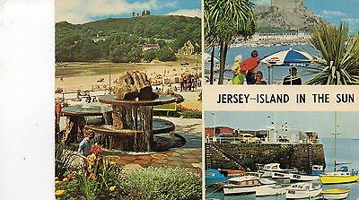 Postcard  Channel Islands  Jersey Island in the sun multiview posted NPO Dexter