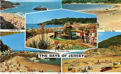 Postcard  Channel Islands the Bays of  Jersey  posted Bamforth