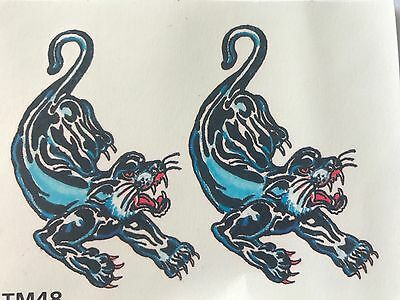 Panther Temporary Tattoo Body Art Water Transfer BOGOF