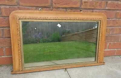 edwardian /victorian inlaid mirror
