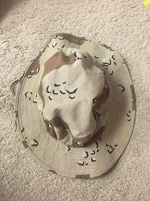 US Military 6 Color Chocolate Chip Camo DESERT STORM Boonie Sun Hat Size 7