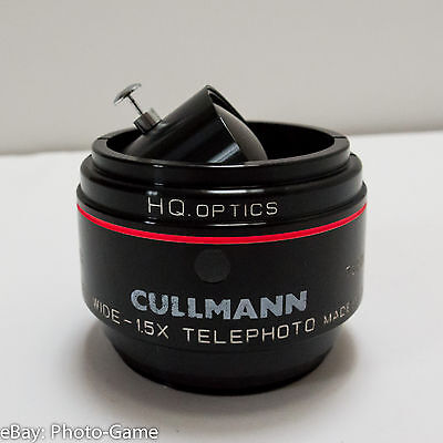 Cullmann photo video lens - wide 0.55x and tele 1.5x converter - easy to switch