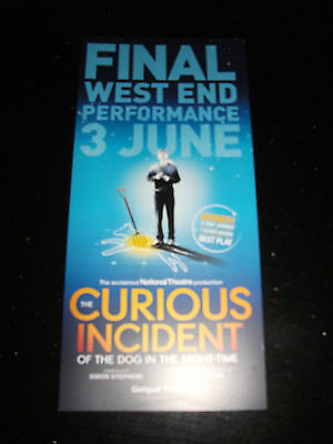 **The Curious Incident Of The Dog In The Night Time Flyer At Gielgud Theatre**