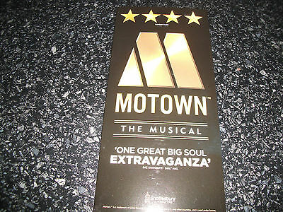 **Motown The Musical Flyer At Shaftesbury Theatre London**