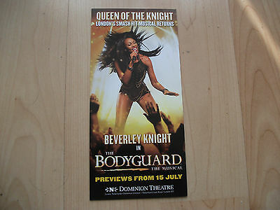 **The Bodyguard Flyer With Beverly Knight At Dominium Theatre London**