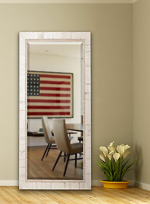 Extra Tall Ivory Wood Floor Mirror One Allium Way FREE SHIPPING (BRAND NEW)