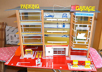 1970s SIO huge model toy car parking Shell garage Mettoy Playcraft Depreux