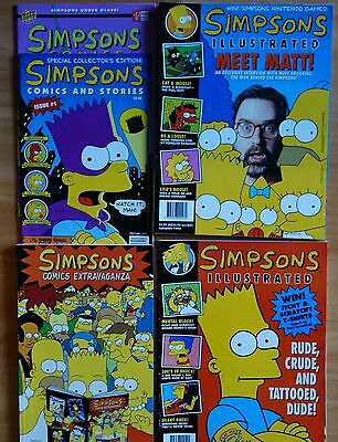 The Simpsons comics including issue 1 and 3D
