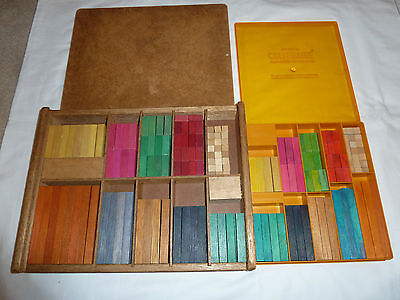 Cuisenaire counting rods-vintage in original wooden/plastic boxes - bulk lot