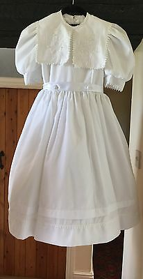 GIRL'S VINTAGE HOLY COMMUNION/FLOWER GIRL/DRESS BY CELESTE ORIGINALS - 7-8yr