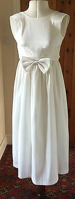 Girl's Ivory Flower Girl/bridesmaid/party Dress - Age 8/9