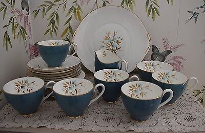 Vintage Adderley Fine Bone China 21 Piece Tea Set Tea For Six 50/60's ?