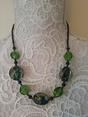Ethnic tribal African Kenyan Masai jewelry bead stone glass handmade necklace