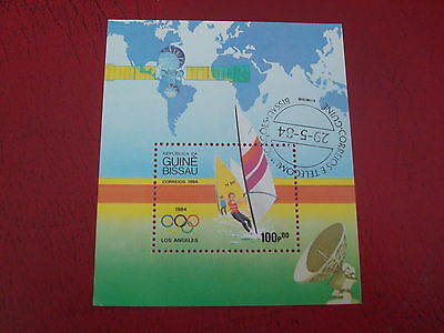 Guinea-Bissau - 1984 Olympics - Minisheet - Unmounted Used - Ex Condition