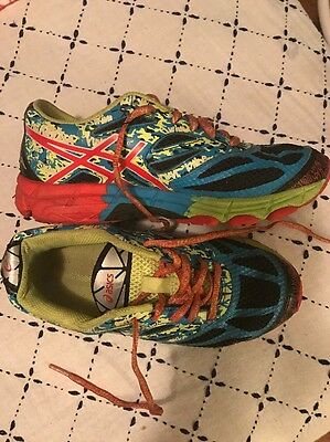 ASICS Gel Neon Running Shoes Children's Rainbow Bright Bought In Hawaii Size 4