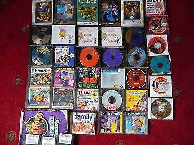 Job Lot Of 34 Old Retro Classic Pc Games And Other Programs.