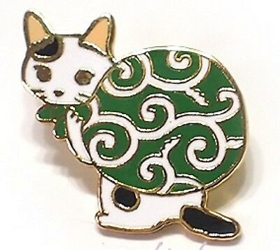 Cat kitten cloisonne ware pins pin badge Japanese traditional arabesque cloth