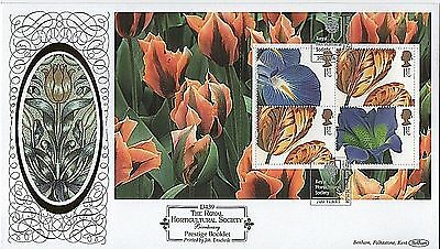 "GB Stamps 2004 ""Horticultural Society"" DX33 Booklet pane Benham First Day Cover"