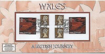 "GB Stamps 2004 ""Wales"" Booklet PM14 Ltd Edition Benham First Day Cover"