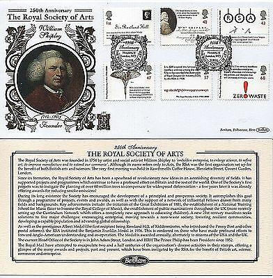 "GB Stamps 2004 ""Royal Society of Arts"" Limited Edition Benham First Day Cover"