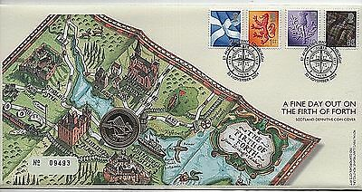 "GB Stamps 2004 ""Firth of Forth"" Royal Mint £1 Coin First Day Cover"
