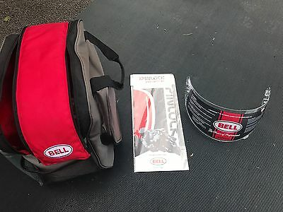 Genuine Bell Helmet Bag /Carrier with Visor - Size M  and accessories  RS1 Star