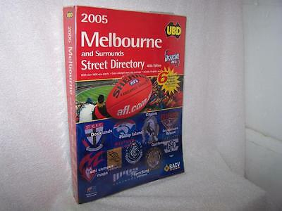 UBD Melbourne Street Directory 40th edition 2005 official AFL edition teams MCG