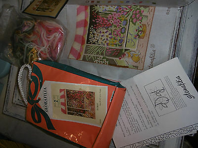 Glorafilia needlepoint tapestry florist part completed kit comes with wools