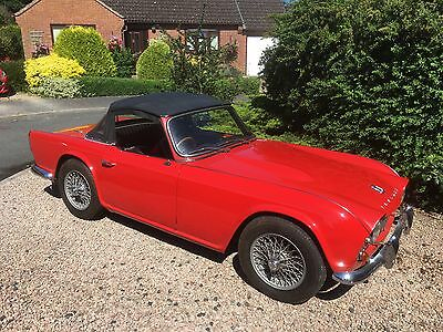 1964 Triumpth TR4  finished in signal Red