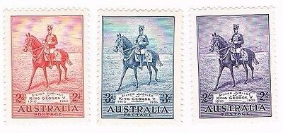 Australia 1935 Silver Jubilee Mint Mounted Set