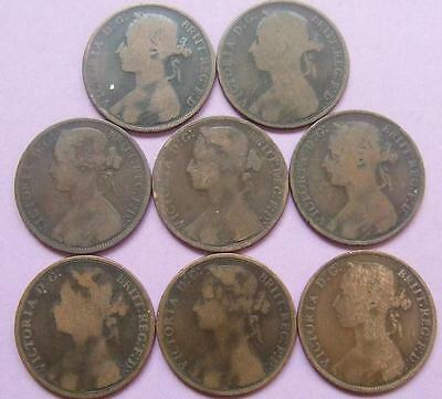 Victoria - 8 Pennies - various dates - all in very nice condition..........Ju105