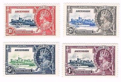 1935 Silver Jubilee Ascension mounted mint set