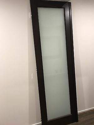 Timber Glass Door 2340 X 720 X 35 Frosted