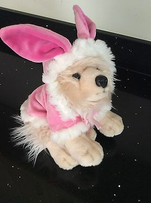 Fluffy Toy Terrier Dog In  Rabbit Outfit By  Keel Toys