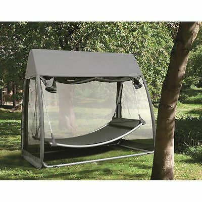 Hammock With Mosquito Net Garden Patio Outdoor Stand Canopy Double Swing Chair