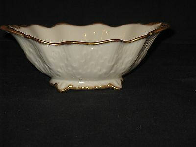 Lenox Oblong Candy / Nut Dish With Gold Accents