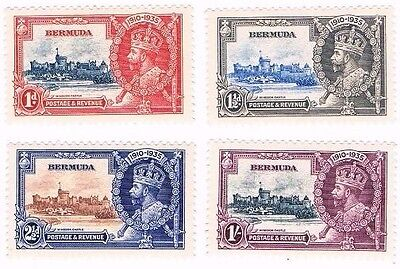 Bermuda 1935 Silver Jubilee mounted mint set