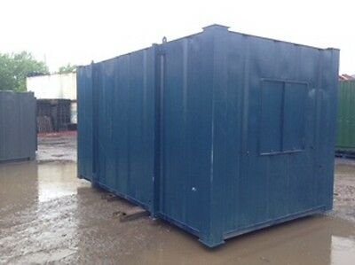 15ft x 8ft Anti Vandal Office open plan Container SECURE WATERPROOF UK