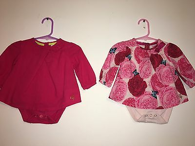 2 X Lovely Ted Baker 2in1 Layered Tops - 0-3 Months