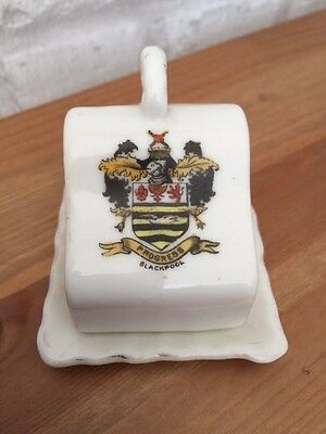 gemma crested china butter / cheese dish 'blackpool'
