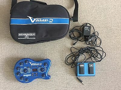 Behringer V-Amp 2 Multieffects Unit -  w Bag, Pedal, Adapter, great condition
