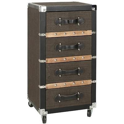Brent 4 Drawer Rolling Chest Safavieh FREE SHIPPING (BRAND NEW)