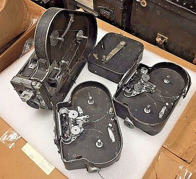 Lot of 4 KODAK Cine Special 200 & Bolex H-16 16mm Cameras for Parts or Repair