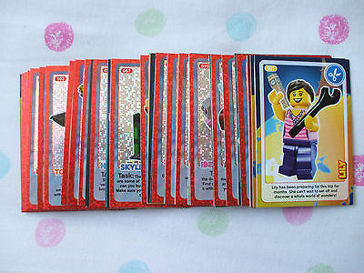 Lego  -  87 X  Sainsburys Create The World Trading Cards - Listed - No Doubles
