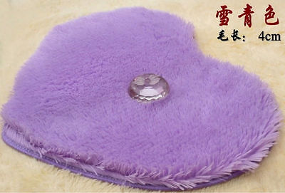 Appr 16'' x 20'' Violet Heart Shape Doormat Living Room Bedroom Floor Carpet Mat